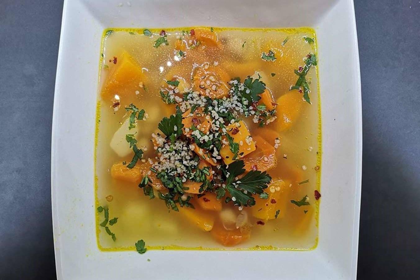 Sviestinio moliūgo sriuba