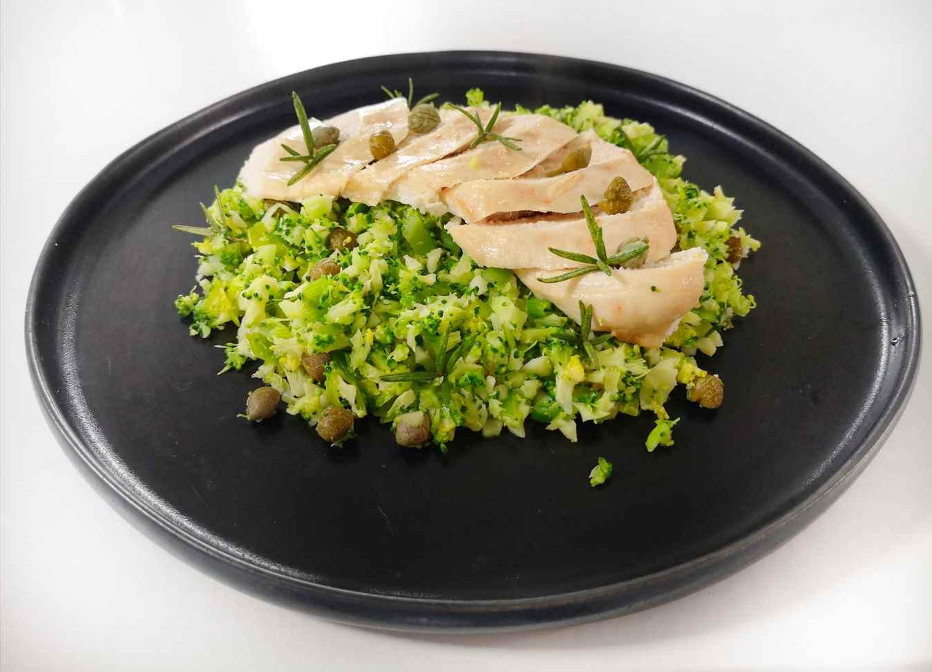 Vištiena su brokolių kuskusu