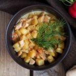 Grybų ir bulvių sriuba su kokoso pienu