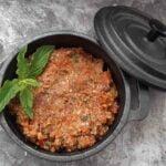 Užtepėlė iš rudųjų pievagrybių ir džiovintų pomidorų