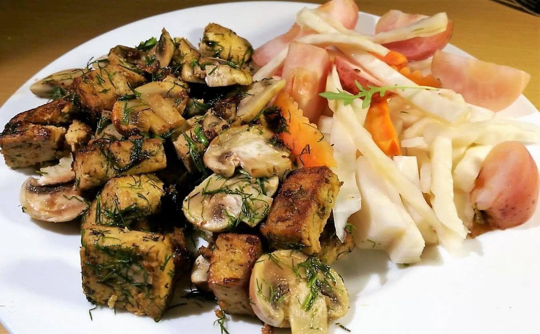 Keptas, sojos padaže marinuotas, Tofu sūris