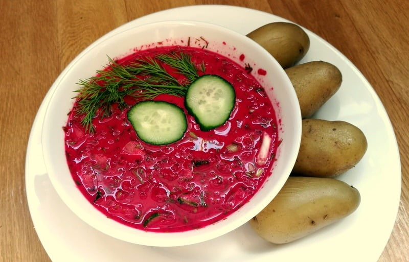 Šaltibarščiai su avižų pienu bei virtomis bulvėmis - sveiki patiekalai