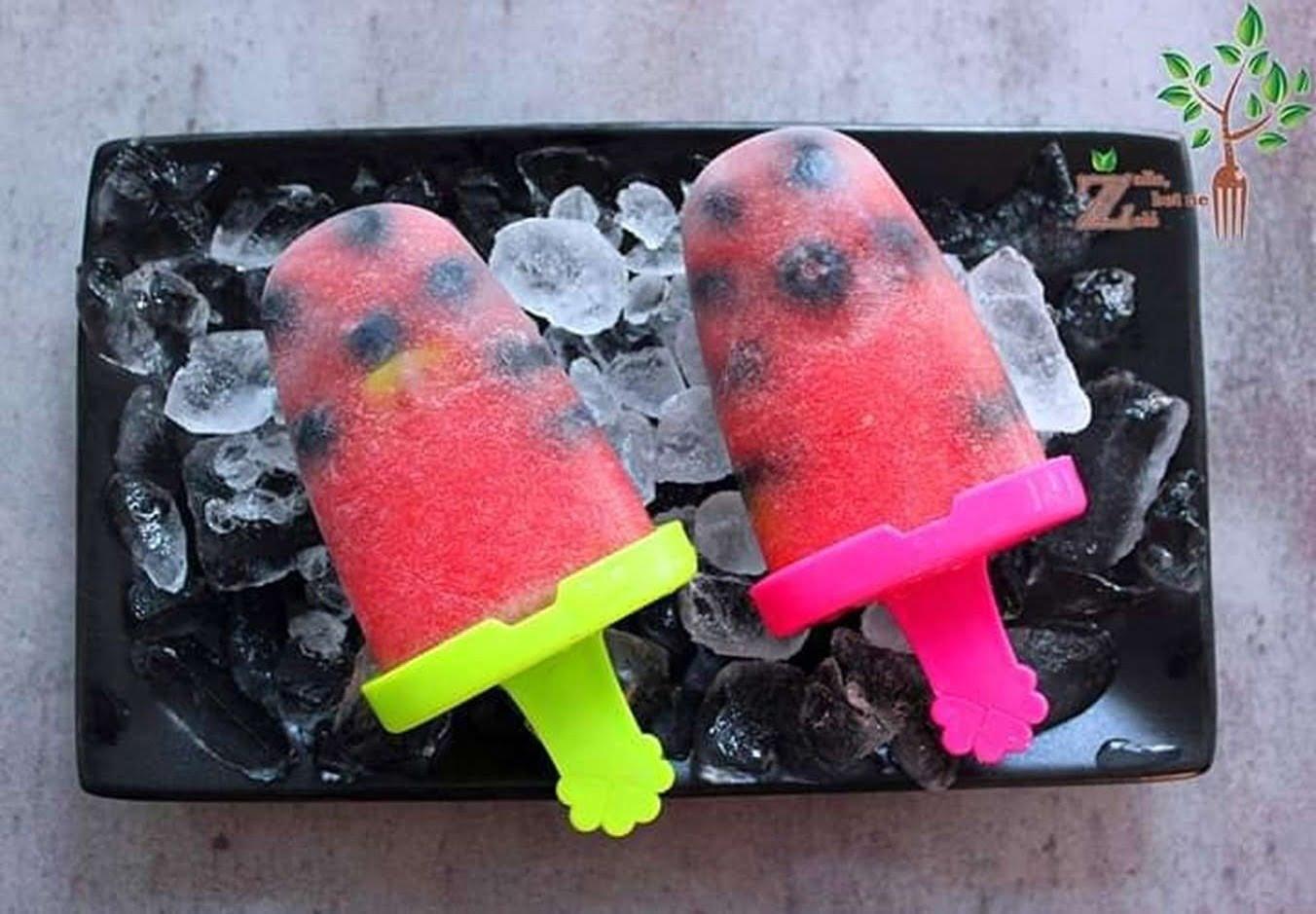 Arbūziniai ledai vos iš dviejų ingredientų