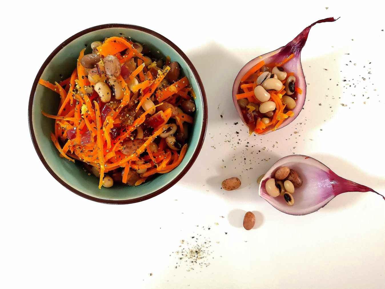 Pupelių patiekalas su daržovėmis - patiekalas iš pupelių pietums